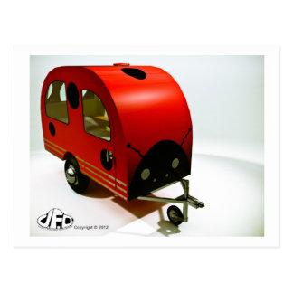 Mini Bike Camper Ladybug style Postcard