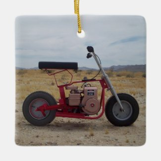Mini Bike Christmas Ornament