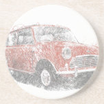"Mini (Biro) Drink Coaster<br><div class=""desc"">mini,  morris,  morris minor,  mini cooper,  old car,  old mini,  austin mini,  1959,  morris mini minor,  british leyland,  mods,  mod,  sir alec issigonis,  50s,  60s,  70s,  car,  cars,  retro,  rover group,  british motor corporation,  marc bolan,  t rex</div>"