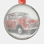 Mini (Biro) Round Metal Christmas Ornament