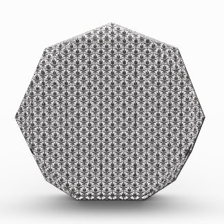 Mini Black and White Damask Pattern Award