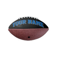 Mini BLACK BLUE SILVER GRAY Personalized Football