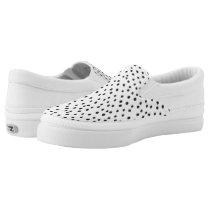 Mini Black Dots Women's Zipz Slip-On Sneakers