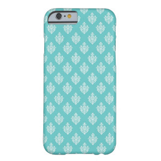Mini blue damask vintage wallpaper pattern barely there iPhone 6 case