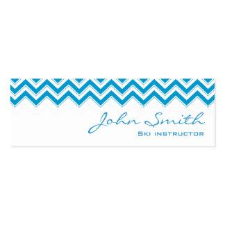 Mini Blue Zigzag Ski Business Card