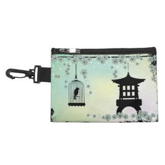 Mini bolso con clip de la jaula de pájaros y del