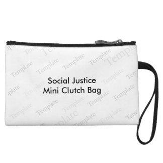Mini bolso de embrague de la justicia social