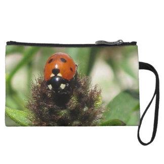 Mini bolso de embrague de la mariquita