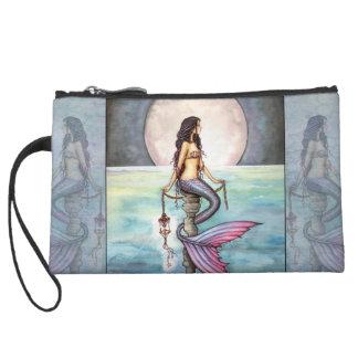 Mini bolso de embrague del satén de la sirena