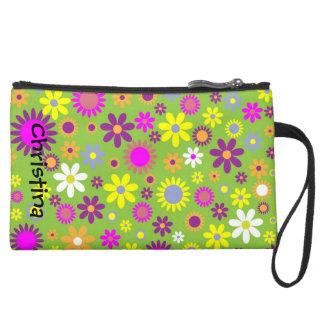 Mini bolso de embrague floral colorido brillante
