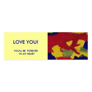 Mini Book Marker -  Love You Business Card Templates