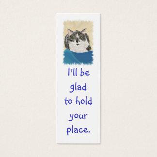 Mini Bookmark Cards, Black WhiteTuxedo Cat Mini Business Card