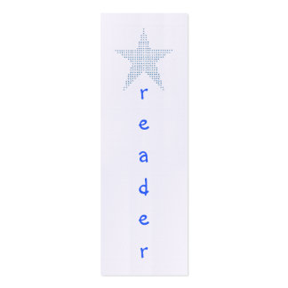 Mini Bookmark Cards, Star Reader Business Card Template