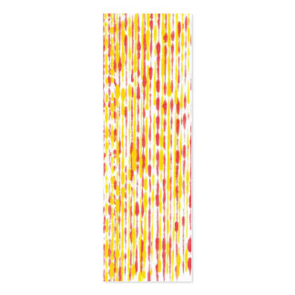 Mini Bookmark cards, yellow and orange pattern Double-Sided Mini Business Cards (Pack Of 20)