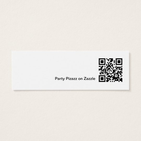Mini Bookmark for Christmas Holiday Party Favor Mini Business Card