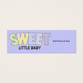 Mini Bookmarks for Baby Shower Party Favor Mini Business Card