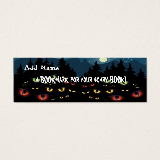 Mini Bookmarks for Halloween Party Favor Mini Business Card