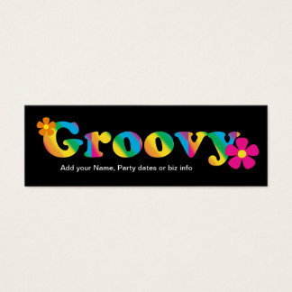 Mini Bookmarks for Retro Birthday Party Favor Mini Business Card