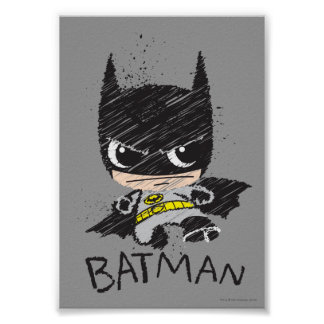 Mini bosquejo clásico de Batman Póster