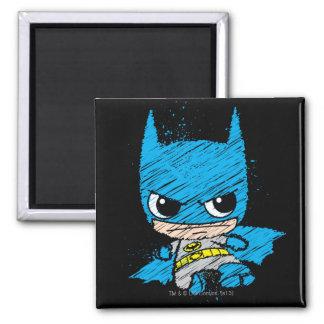 Mini bosquejo de Batman Imán Cuadrado