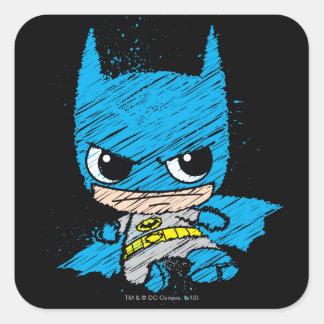 Mini bosquejo de Batman Pegatina Cuadrada