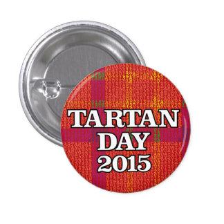 Mini-botón 2015 del día del tartán pin