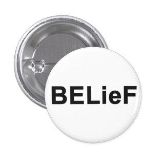 Mini botón de la creencia pins
