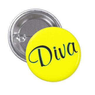 Mini botón de la diva pins