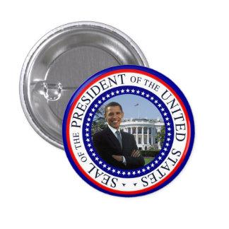 Mini botón de Obama - blanco y azul rojos Pins