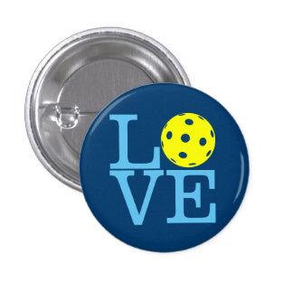 Mini botón de Pickleball: AMOR (azul) Pin Redondo De 1 Pulgada
