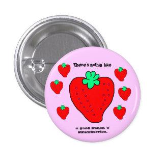 Mini botón de Strawberriez Pin Redondo De 1 Pulgada