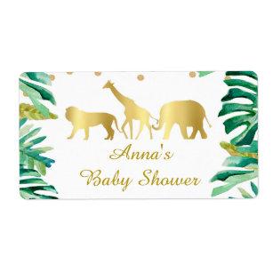 Leopard BLUE SAFARI Animal Prints Hershey Kiss Labels//Stickers-Boy Baby Shower