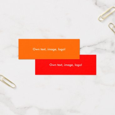 Professional Business Mini Business Cards Orange-Red