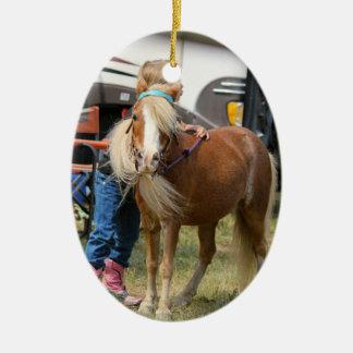 Mini caballo ornamento de navidad