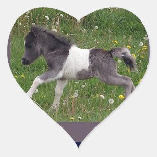 Mini caballo colcomanias corazon