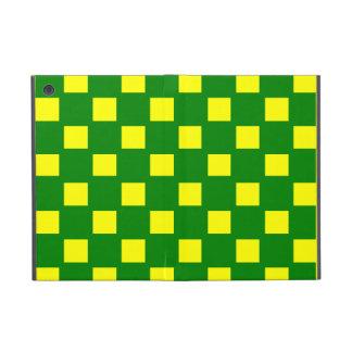 Mini caja comprobada verde y amarilla del iPad iPad Mini Funda