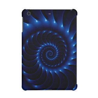 Mini caja de la retina del iPad espiral azul