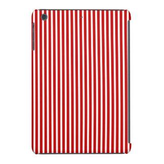 Mini caja de las Rayas-iPad rojas y blancas Fundas De iPad Mini Retina