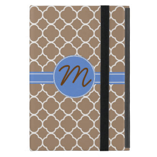 Mini caja del aire del cojín del moreno del monogr iPad mini cobertura