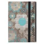 Mini caja linda del iPad floral azul y blanco iPad Mini Cárcasa