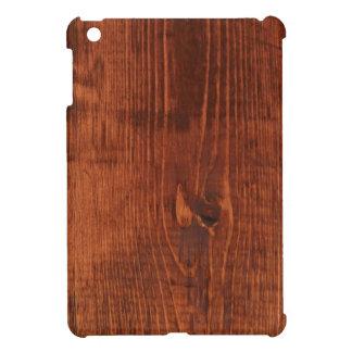 Mini caja manchada del iPad de madera de la mirada