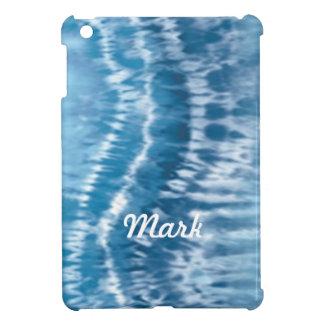 Mini caja personalizada del iPad azul del teñido
