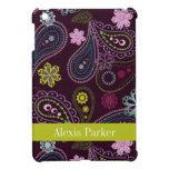 Mini caja personalizada del iPad floral púrpura de iPad Mini Coberturas