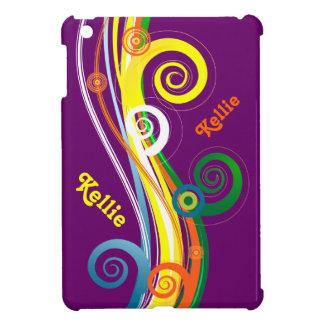 Mini caja rayada rizada personalizada del iPad
