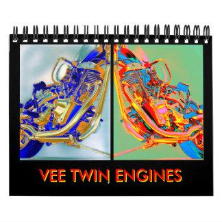 Mini-calendario 2012 del motor de la motocicleta calendarios de pared