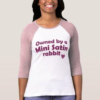 Mini camisa del conejo del satén
