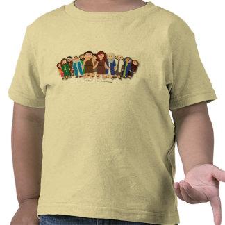 Mini camiseta del amarillo de la familia de la arc