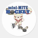 Mini camisetas y regalos del hockey del ácaro del etiquetas redondas