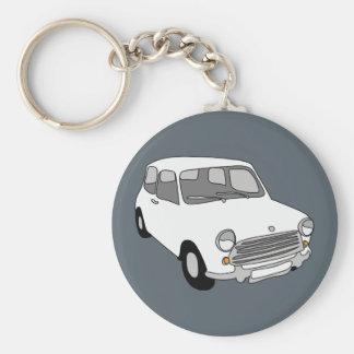 Mini Car Key-Ring by Rupert & Poppy Basic Round Button Keychain