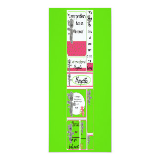 """Mini cards for Kid including Small Notes, Bookmark 4"""" X 9.25"""" Invitation Card"""